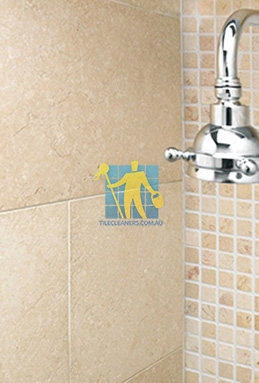 limestone tile shower thala cream Adelaide cleaning