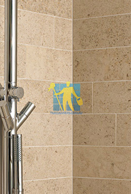 limestone tiles shower moleanos beige Tranmere cleaning