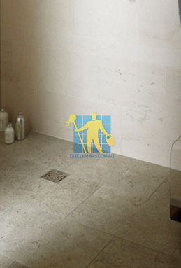 limestone tiles shower moleanos blue Brighton cleaning