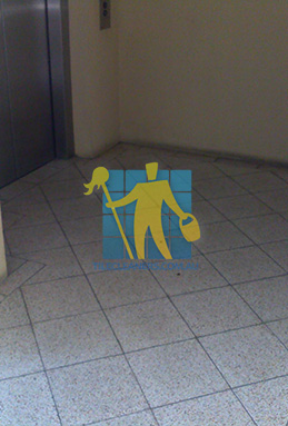 terrazzo tiles dirty floor entrance lift Adelaide